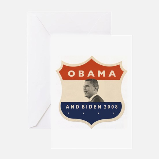 Obama / Biden JFK '60 Shield Greeting Card