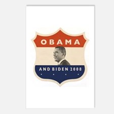 Obama / Biden JFK '60 Shield Postcards (Package of