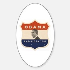 Obama / Biden JFK '60 Shield Oval Decal