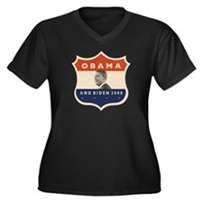 Obama / Biden JFK '60 Shield Women's Plus Size V-N