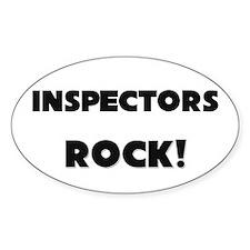 Inspectors ROCK Oval Sticker