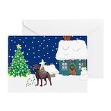 Chocolate lab christmas Greeting Cards