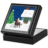 Dogs labradors Square Keepsake Boxes