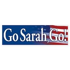 Go Sarah, Go! Bumper Bumper Sticker