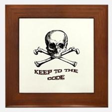 Keep to the Code. Framed Tile