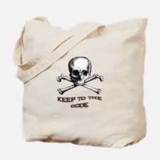 Keep to the Code. Tote Bag