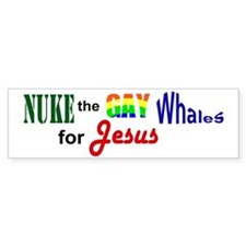 Gay Whales Bumper Bumper Sticker