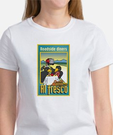 """Roadside Diners Al Fresco"" Women's T-Shirt"