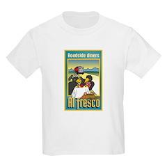 """Roadside Diners Al Fresco"" Kids Light T-Shirt"