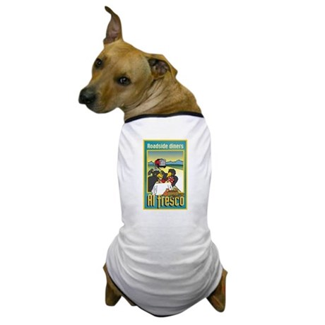 """Roadside Diners Al Fresco"" Dog T-Shirt"