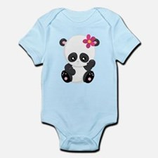 Cute Baby Girl Panda Bear Body Suit