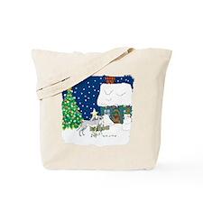 Christmas Lights Greyhound Tote Bag
