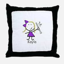 Clarinet - Kayla Throw Pillow