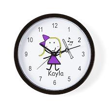 Clarinet - Kayla Wall Clock