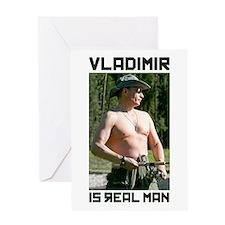 Vladimir Putin Greeting Card