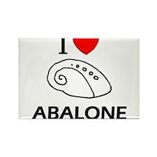 I Love Abalone Rectangle Magnet