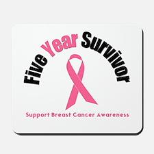 5 Year Breast Cancer Survivor Mousepad