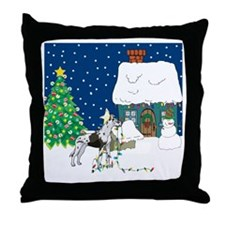 Christmas Lights Great Dane Throw Pillow
