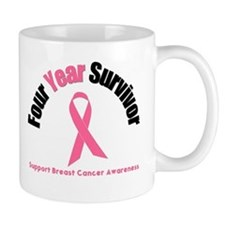 4 Year Breast Cancer Survivor Mug