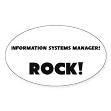 Information Systems Managers ROCK Oval Sticker