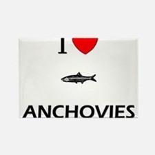 I Love Anchovies Rectangle Magnet