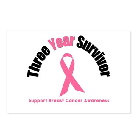 3 Year Breast Cancer Survivor Postcards (Package o