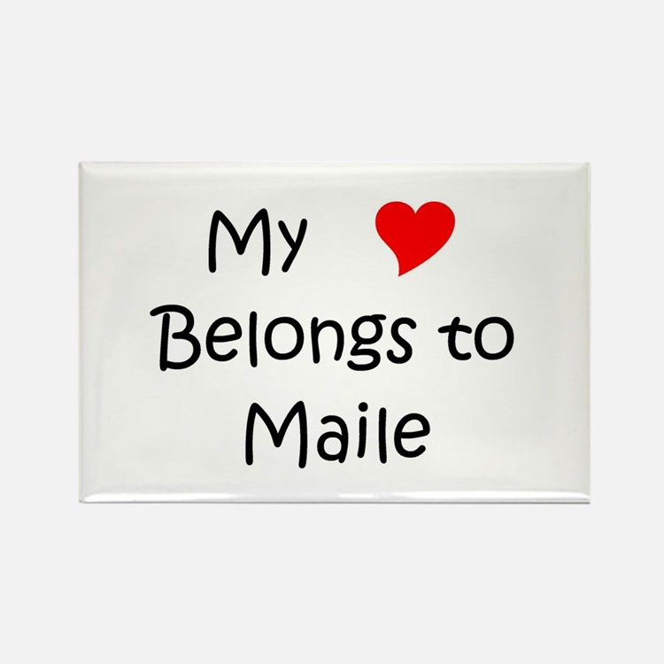 Cute Maile Rectangle Magnet