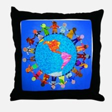 Children around the World Throw Pillow