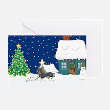 Christmas Lights Dachshund Greeting Cards (Pk of 1
