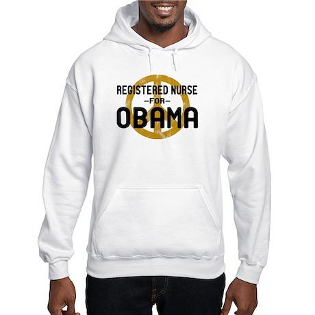 RN for Obama Hooded Sweatshirt