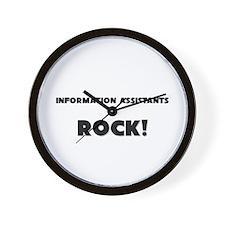 Information Assistants ROCK Wall Clock
