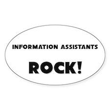 Information Assistants ROCK Oval Sticker