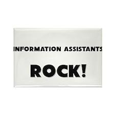 Information Assistants ROCK Rectangle Magnet