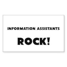 Information Assistants ROCK Rectangle Sticker