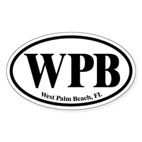 West Palm Beach WPB Euro Oval Oval Sticker