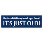 GOP No Longer Grand, Just Old! Bumper Sticker