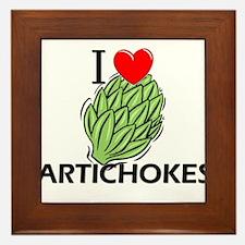 I Love Artichokes Framed Tile