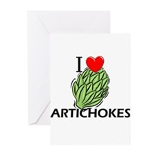 I Love Artichokes Greeting Cards (Pk of 10)