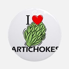 I Love Artichokes Ornament (Round)