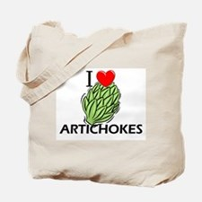 I Love Artichokes Tote Bag