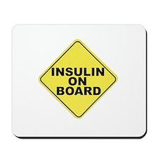 Insulin on board Mousepad