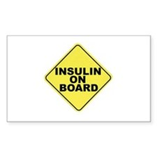 Insulin on board Rectangle Decal