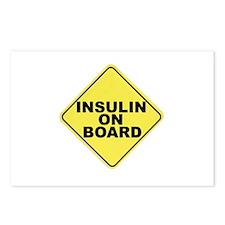 Insulin on board Postcards (Package of 8)