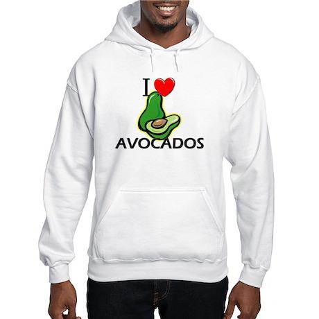 I Love Avocados Hooded Sweatshirt