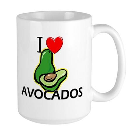 I Love Avocados Large Mug