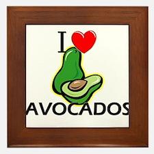 I Love Avocados Framed Tile