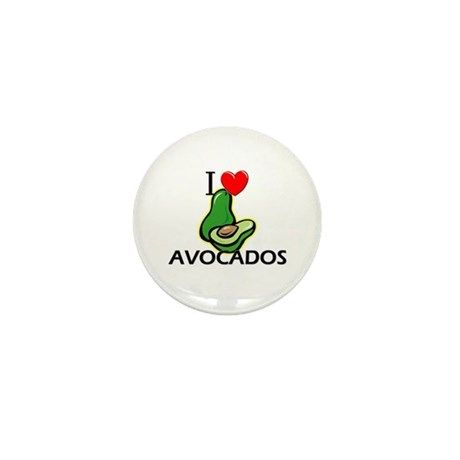 I Love Avocados Mini Button (10 pack)