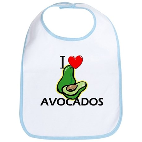 I Love Avocados Bib