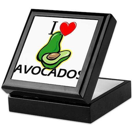 I Love Avocados Keepsake Box