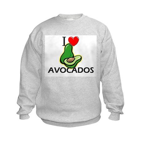 I Love Avocados Kids Sweatshirt